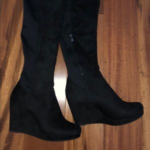 Chinese Laundry black over the knee boots size 8